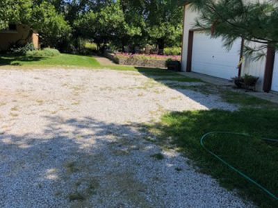 Garage Pavement Before